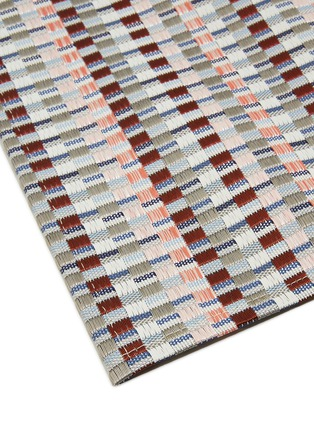 Detail View - Click To Enlarge - CHILEWICH - Heddle rectangle placemat – Dogwood