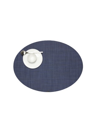Main View - Click To Enlarge - CHILEWICH - Basketweave oval placemat – Indigo