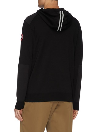 Back View - Click To Enlarge - CANADA GOOSE - 'Amherst' contrast panel knit hoodie