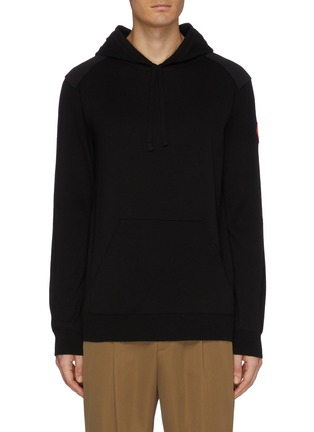 Main View - Click To Enlarge - CANADA GOOSE - 'Amherst' contrast panel knit hoodie
