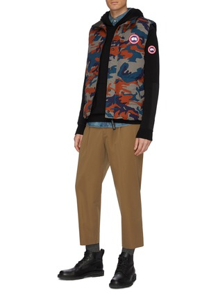 Figure View - Click To Enlarge - CANADA GOOSE - 'Amherst' contrast panel knit hoodie