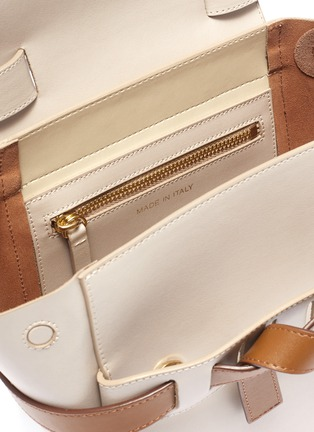 Detail View - Click To Enlarge - PANNYY - 'The Adler' tie convertible mini leather backpack