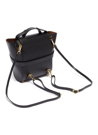 Detail View - Click To Enlarge - PANNYY - 'The Adler' tie mini leather backpack