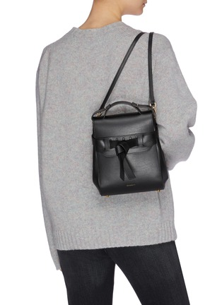 Figure View - Click To Enlarge - PANNYY - 'The Adler' tie mini leather backpack