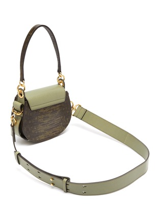 Detail View - Click To Enlarge - CHLOÉ - 'Tess' ring lizard embossed panel small leather saddle bag