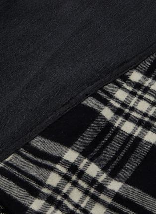 - JUUN.J - Tartan plaid panel raglan shirt