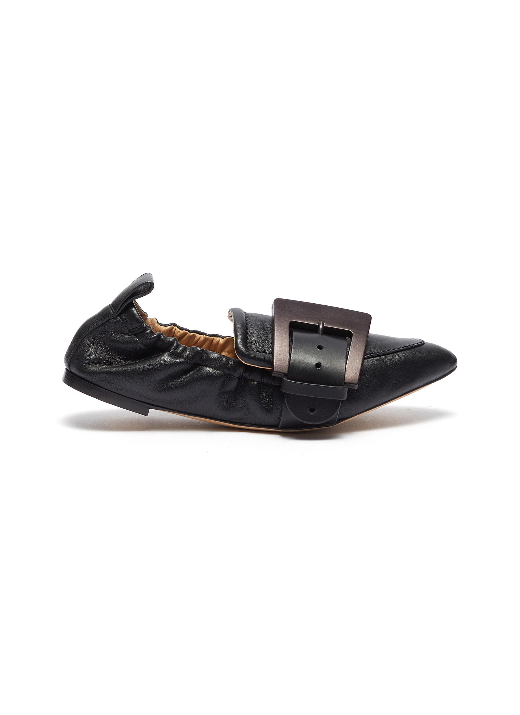 Willy buckle elastic leather loafers by Chloé