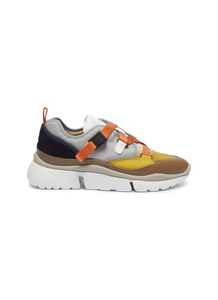 Main View - Click To Enlarge - CHLOÉ - 'Sonnie' chunky outsole low top patchwork sneakers