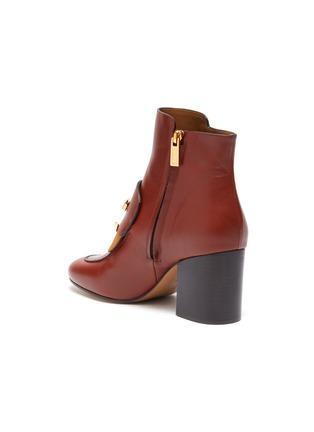 - CHLOÉ - 'Chloé C' suede panel leather ankle boots