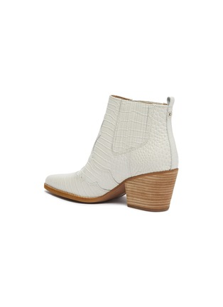 - SAM EDELMAN - 'Winona' panelled croc embossed leather ankle boots