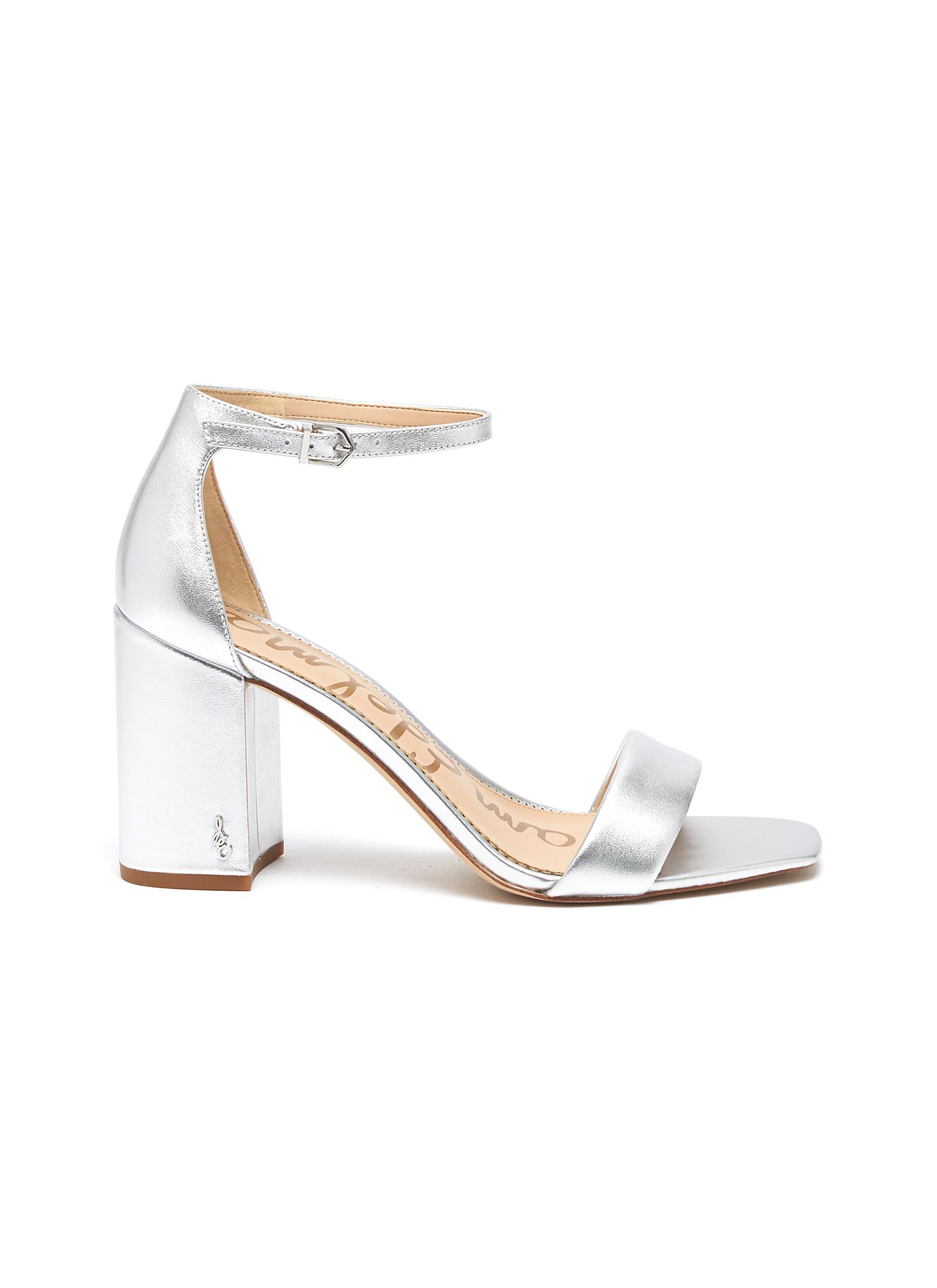 Daniella ankle strap metallic leather sandals by Sam Edelman