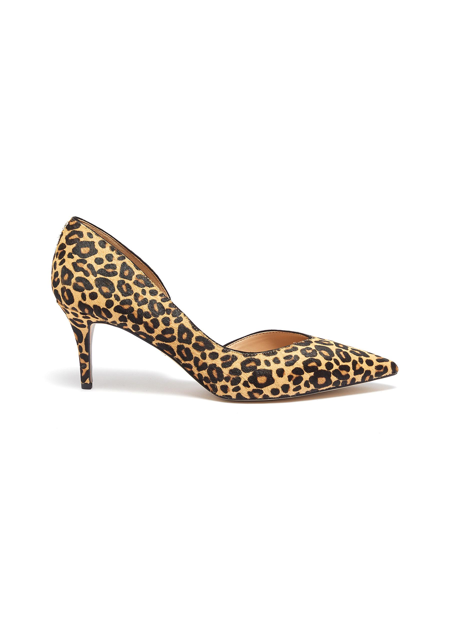 Jani leopard print cow hair dOrsay pumps by Sam Edelman