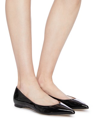 Figure View - Click To Enlarge - SAM EDELMAN - 'Sally' patent skimmer flats