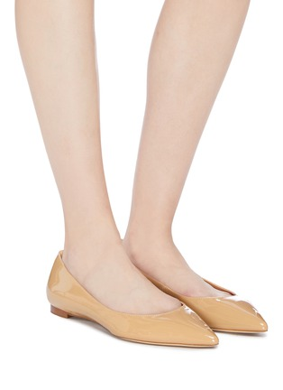 0c2be9bc6646 Figure View - Click To Enlarge - SAM EDELMAN - 'Sally' patent skimmer flats
