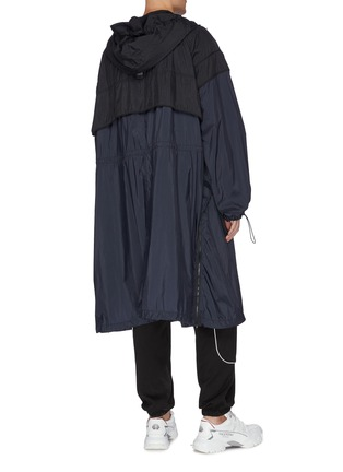 Back View - Click To Enlarge - JUUN.J - Colourblock hooded track coat