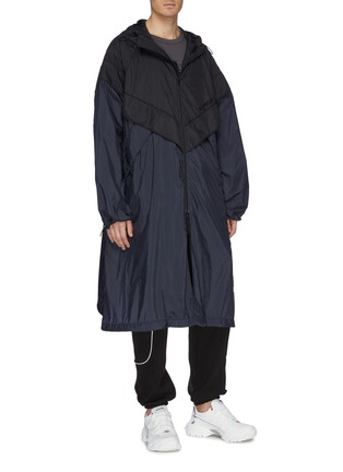 Front View - Click To Enlarge - JUUN.J - Colourblock hooded track coat