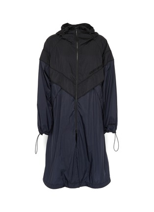 Main View - Click To Enlarge - JUUN.J - Colourblock hooded track coat
