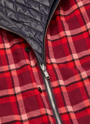 - JUUN.J - Reversible detachable hood check plaid shirt jacket