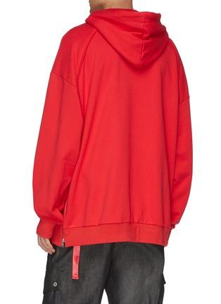 Back View - Click To Enlarge - JUUN.J - Zip outseam oversized hoodie