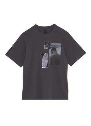 Main View - Click To Enlarge - JUUN.J - Slogan embroidered photographic print T-shirt