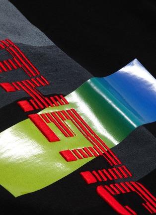 - JUUN.J - Slogan embroidered photographic print T-shirt
