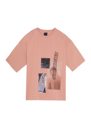 Main View - Click To Enlarge - JUUN.J - Slogan embroidered photographic print oversized T-shirt
