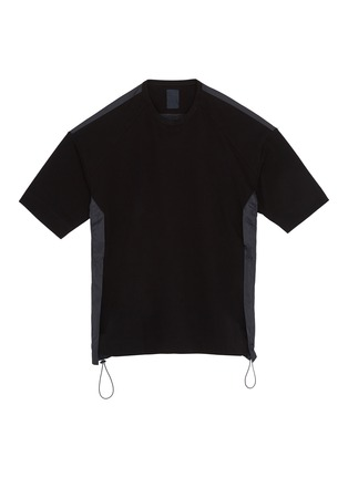 Main View - Click To Enlarge - JUUN.J - Slogan embroidered contrast back patchwork oversized T-shirt