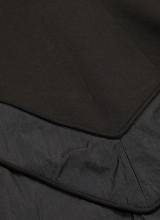 - JUUN.J - Contrast nylon panelled hoodie
