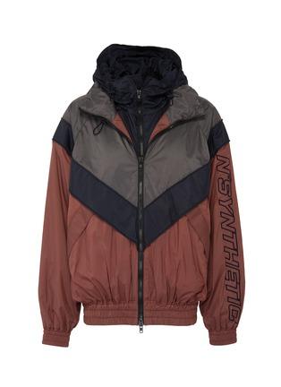 Main View - Click To Enlarge - JUUN.J - Detachable yoke colourblock track jacket