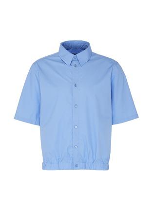 Main View - Click To Enlarge - MARTINE ROSE - Elastic hem short sleeve shirt