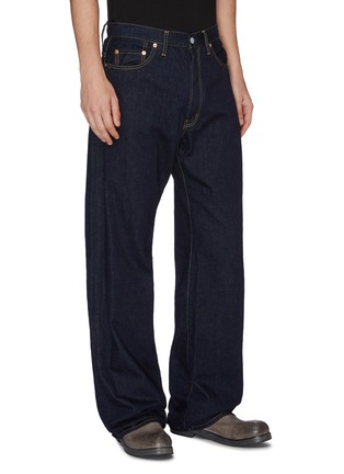 Front View - Click To Enlarge - YOHJI YAMAMOTO - Logo patch straight leg jeans