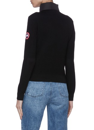 Back View - Click To Enlarge - CANADA GOOSE - 'Hybridge' puffed zip jacket