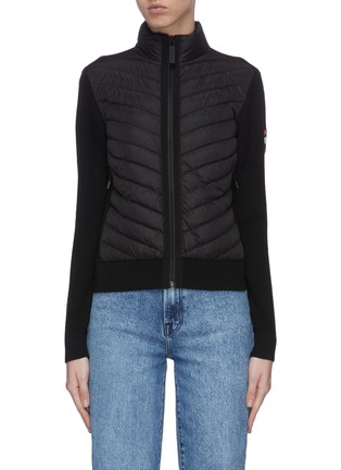 Main View - Click To Enlarge - CANADA GOOSE - 'Hybridge' puffed zip jacket