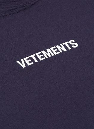 - VETEMENTS - Logo print washing label long sleeve T-shirt