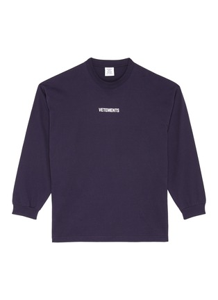 Main View - Click To Enlarge - VETEMENTS - Logo print washing label long sleeve T-shirt