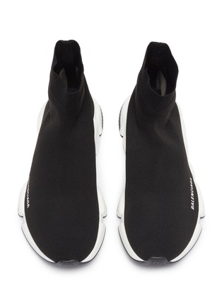 Detail View - Click To Enlarge - BALENCIAGA - Speed' knit slip-on sneakers
