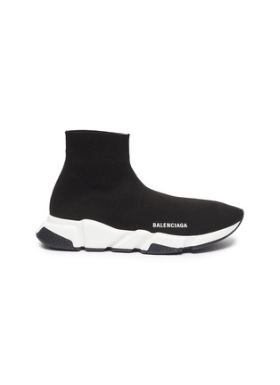 Main View - Click To Enlarge - BALENCIAGA - Speed' knit slip-on sneakers