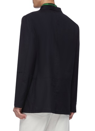 Back View - Click To Enlarge - JACQUEMUS - Contrast stitch button up blazer