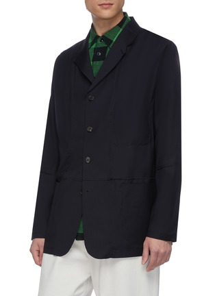 Front View - Click To Enlarge - JACQUEMUS - Contrast stitch button up blazer