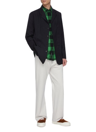 Figure View - Click To Enlarge - JACQUEMUS - Contrast stitch button up blazer