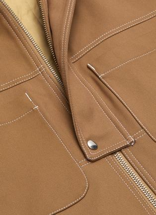 - JACQUEMUS - 'La veste Meunier' contrast topstitching hooded jacket