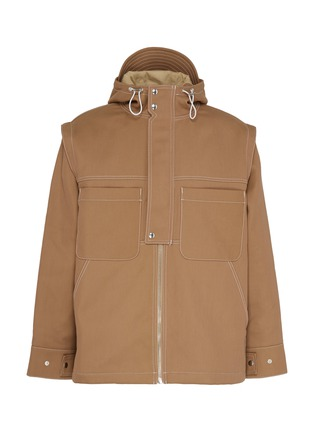 Main View - Click To Enlarge - JACQUEMUS - 'La veste Meunier' contrast topstitching hooded jacket