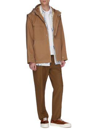 Figure View - Click To Enlarge - JACQUEMUS - 'La veste Meunier' contrast topstitching hooded jacket