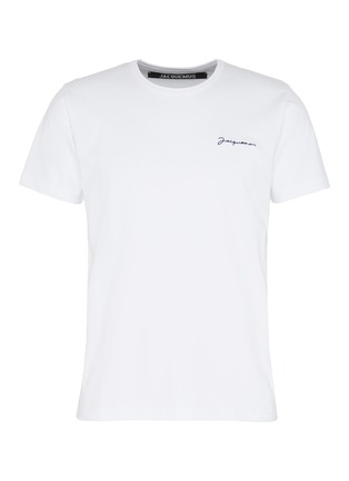 Main View - Click To Enlarge - JACQUEMUS - 'Le T-Shirt brodé' logo embroidered T-shirt