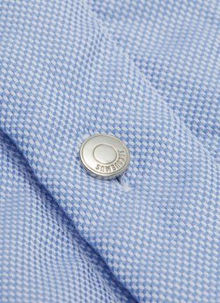 - JACQUEMUS - 'La Chemise Boulanger' logo embroidered chest pocket shirt