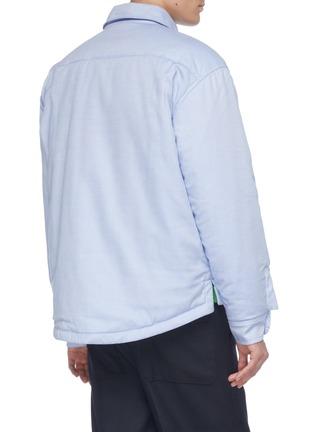 Back View - Click To Enlarge - JACQUEMUS - 'La Chemise Boulanger' logo embroidered chest pocket shirt