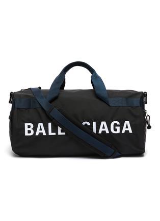 Main View - Click To Enlarge - BALENCIAGA - 'Wheel' logo print gym bag