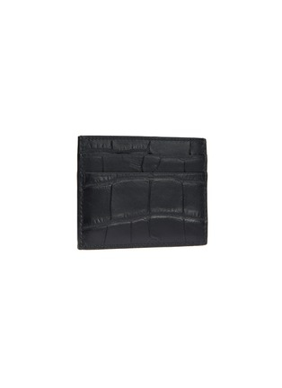 Figure View - Click To Enlarge - BALENCIAGA - Logo print croc embossed leather card holder