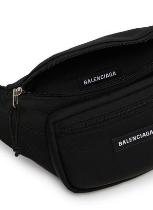 Detail View - Click To Enlarge - BALENCIAGA - Logo patch piqué bum bag