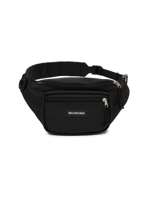 Main View - Click To Enlarge - BALENCIAGA - Logo patch piqué bum bag